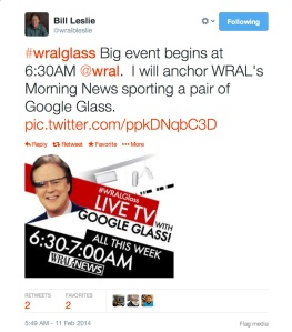 @wralbleslie breaks the news on twitter