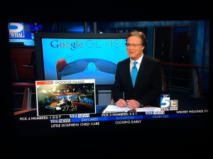 Output of WRAL control room #1 put Glass on TV, output of WRAL control room #2 streamed continuous output from Glass on WRAL.com.